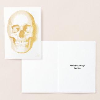 Skull Halloween Day of the Dead Custom Foil Card