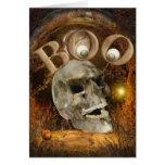 Skull Halloween Greeting Card