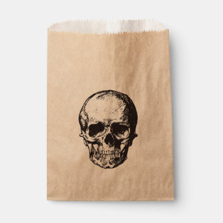 Skull halloween party favor bag