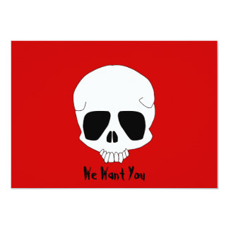 Skull Halloween Party Invitation template
