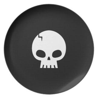 Skull Halloween Plate