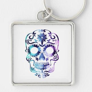 Skull Halloween Symbol Key Ring