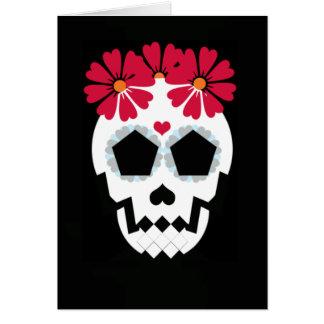 "Skull ""Happy Halloween!"" Greeting Card"