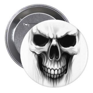 skull head 7.5 cm round badge
