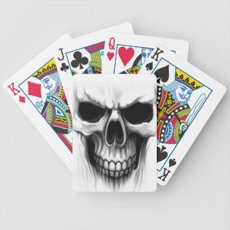 skull head bicycle poker deck