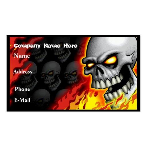 Skull Head Business Card Customizable