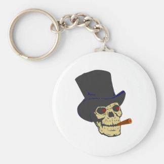 Skull head cigar skull cigar key ring