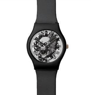 skull head hunter graffiti wrist watches