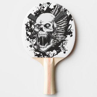 skull head hunter graffiti ping pong paddle