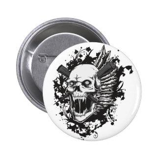 skull head hunter graffiti pins