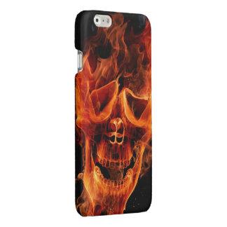 skull head in fire