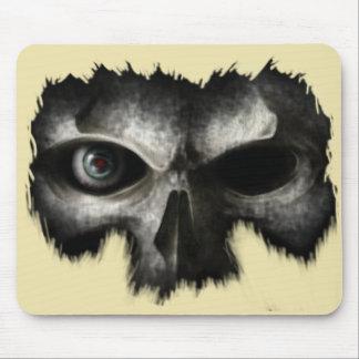 skull head mouse pad