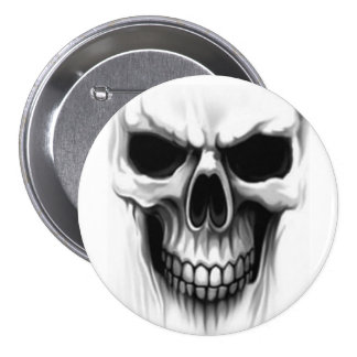 skull head pinback buttons