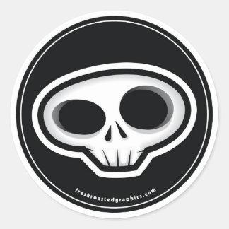Skull head sticker