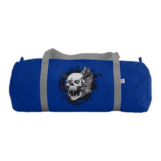 skull head tattoo art gym duffel bag