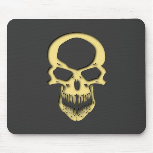Skull head with hole skull with gets mousepads