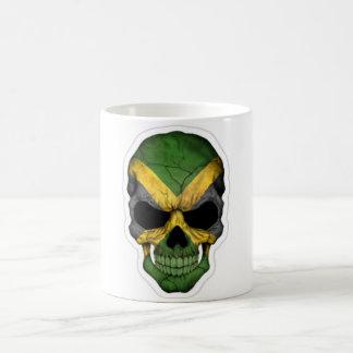 skull head with jamaica flag mug