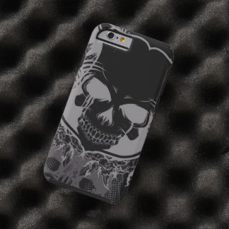 skull head with swirl art tough iPhone 6 case