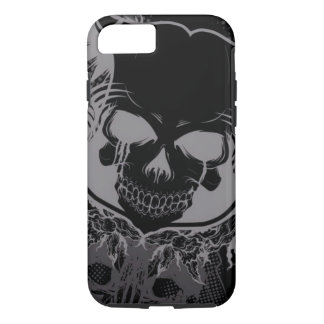 skull head with swirl art iPhone 7 case