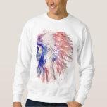 Skull Headdress Pullover Sweatshirt