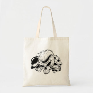 skull heads tote bag