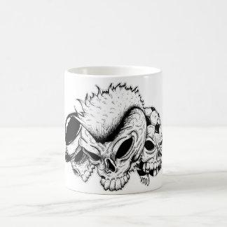 skull heads basic white mug