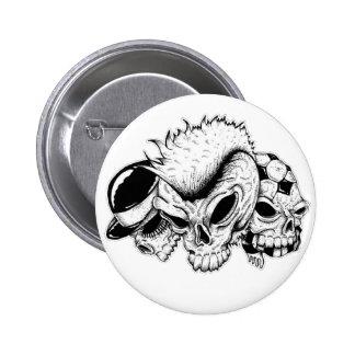 skull heads button