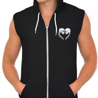 Skull Heart Hooded Pullover
