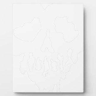 skull heart plaque