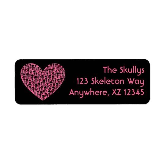 Skull Heart Return Address Label
