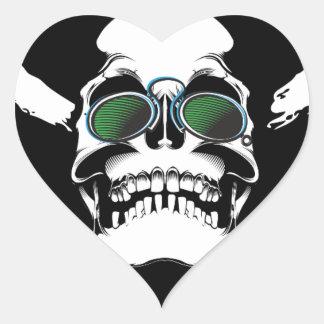 Skull Heart Sticker