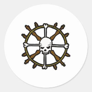 Skull Helm Classic Round Sticker