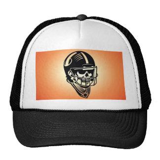 Skull helmet design trucker hat