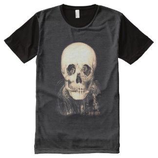 Skull Illusion All-Over Print T-Shirt