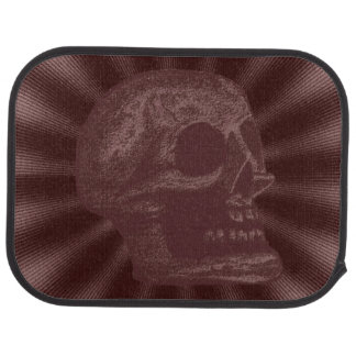 Skull- Illustrated Skull! Deep Red Car Mat