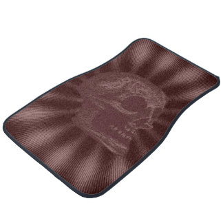 Skull- Illustrated Skull! Deep Red Floor Mat