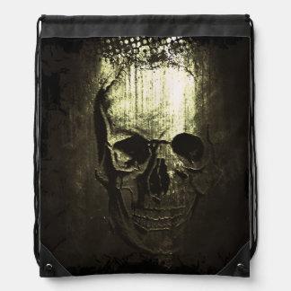 Skull Imprint Draw-string back-pack Drawstring Backpacks