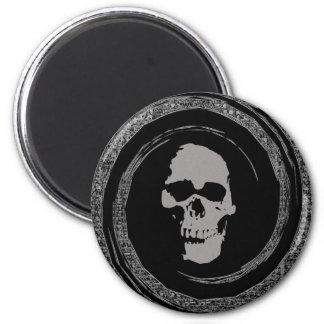 Skull in a Black Void 6 Cm Round Magnet