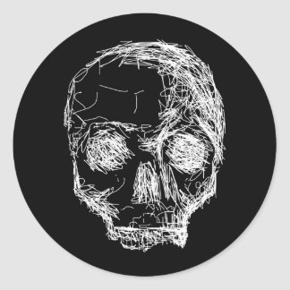 Skull in Black and White. Stickers