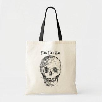 Skull in Black Canvas Bag