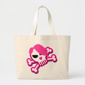 Skull in emo style bag