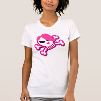 Skull in Emo style with pink hair T-Shirt