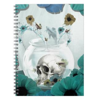 Skull in fish bowl illustration notebooks