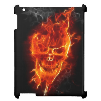 Skull in Flames Case For The iPad 2 3 4