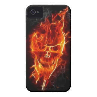 Skull in Flames iPhone 4 Cover