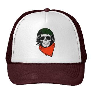 Skull in helmet hats