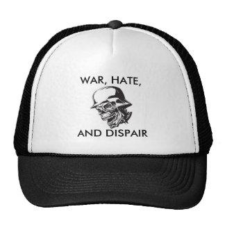 Skull In Helmet; WAR, HATE, AND DISPAIR Cap