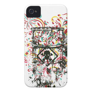 skull in the glass, vintage heart iPhone 4 Case-Mate cases