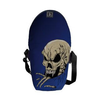 Skull in to darkness courier bag