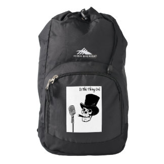 Skull in Top Hat with Microphone Backpack